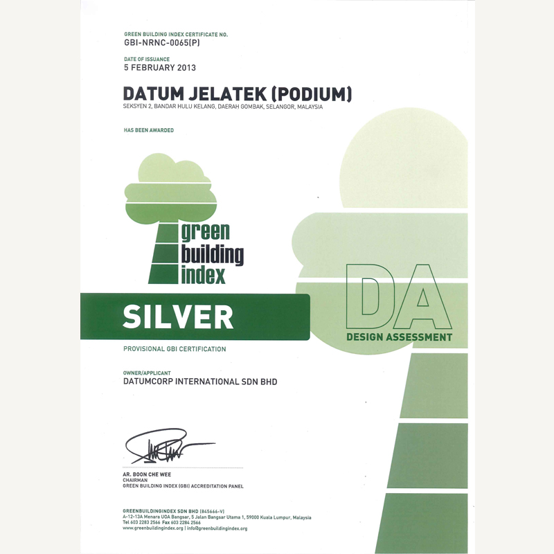 Silver Provisional GBI